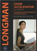 Longman Exam Accelerator: Classroom and Self-Study Preparation for all B2 Level Exams (+ 2 CD-ROM)
