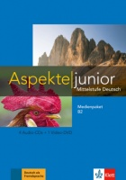 Aspekte junior B2 Medienpaket B2 (4 Audio-CDs +Video-DVD)